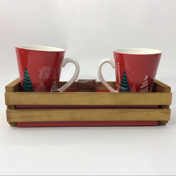 Starbucks 2017 Christmas Mugs 13 oz With Crate